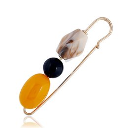 $enCountryForm.capitalKeyWord UK - Acrylic Beads Brooch Pins Brooches Fashion Jewelry Accessory For Women Sweater Blouse Clothes Costume Decoration