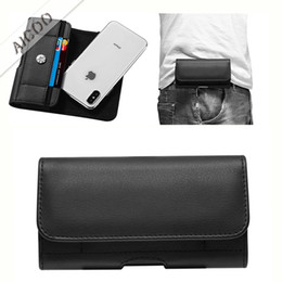 Leather beLt cLips online shopping - Luxury PU Leather Pouch Belt Clip Universal Mobile Phone Case Waist Bag For iPhone XR XS Max X Plus Samsung Note S9 Plus Huawei OPP
