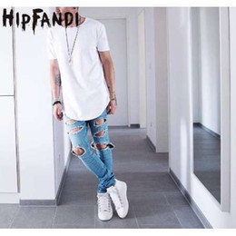 Discount tyga swag clothes - HIPFANDI Summer Men Short Sleeve Extended Hip Hop T shirt Oversized Tyga Kpop Swag Clothes Men's Casual Streetwear