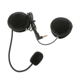 microphone plugs 2019 - Motorcycle Helmet Headset For Microphone Speaker Soft Accessory For Motorcycle Intercom Work with 3.5mm-plug cheap micro