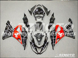 Red Black Kawasaki Zx6r NZ - Three free beautiful gift new high quality ABS Injection fairing plates for Kawasaki Ninja ZX6R 599 636 2013-2016 bodywork set black Red O36