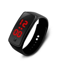 plastic silicone UK - The New Hot LED Bracelet Second-generation Silicone Electronic Watches Student Sports Watch Digital Watch Free Shipping
