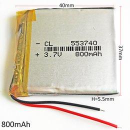 Modell 553740 3.7V 800mAh Lithium Polymer LiPo Akku verwenden für Mp3 DVD PAD Handy GPS Power Bank Kamera E-Books recoder