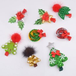 $enCountryForm.capitalKeyWord Australia - New Fashion Christmas Hair Clips For Girls Santa Claus Xmas Hairpins Barrettes Gifts For Kids Girls Children Hairpins Hair Accessories Gift