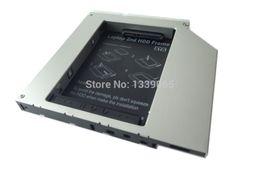 "Discount sata 2nd hard disk drive - Wholesale- Aluminum Kits 2nd HDD Caddy 2.5"" Hard Disk Drive Enclosure SSD Case"