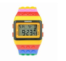 New Watch Touch Screen Australia - Colorful Rainbow watches SHHORS Waterproof Watch Touch Screen Fashion LED Digital Watch Soft Silicone Unisex Bracelet Wristwatches 500pcs