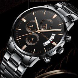 $enCountryForm.capitalKeyWord Australia - FNGEEN Quartz Watch Men 2018 Fashion Steel Waterproof Wrist Watch Man Sports Casual Date Clock Male Hodinky Reloj Hombre Black Quartz Watch