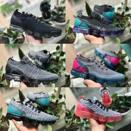 9ef3ce97f 2018 nike air max vapormax 2 off white airmax tn flyknit Calzado deportivo  para hombre 2.0 ll2 V2 fly Sneakers Mujeres Negro White Blue Trainer  Jogging ...