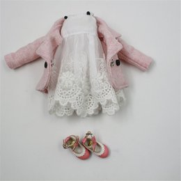 $enCountryForm.capitalKeyWord Canada - Doll Clothes For 1 6 Blyth licca Azone ICY doll 2 Pieces Lace Dress Pink Coat
