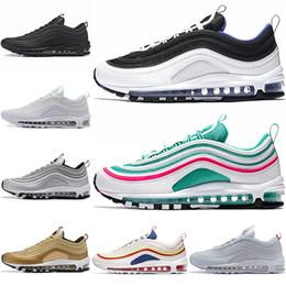 ca5cd0cc815 2018 invictos 97 Ultra OG Plus hombres correr zapatos aire correr oro plata  97s deportes Maxes