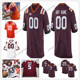 0d38a20e8b2 Customized College football jerseys online shopping - Customized Virginia  Tech Hokies College Football Marroon Red White