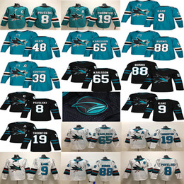 San Jose Sharks  8 Joe Pavelski 19 Thornton 88 Brent Burns 9 Evander Kane  Green White  65 Erik Karlsson Couture 2018 Hockey Jerseys f4ea2acd9