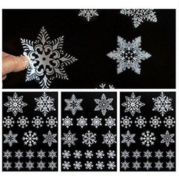 white christmas window stickers NZ - 20F# 19 REUSABLE WHITE CHRISTMAS SNOWFLAKES WINDOW STICKERS SELF CLINGS Decorations