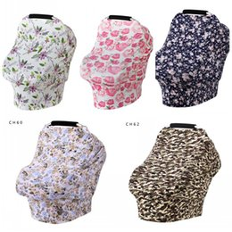 Wholesale Practical Baby Floral Feeding Nursing Cover Durable Stretchy High Chair Seat Covers Easy To Carry Newborn Toddler Scarf New Arrival yk BB