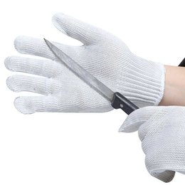 Discount anti cutting gloves - KLV Safety Gloves Anti-Cut Stab Resistant Stainless Steel Wire Metal Cut-Resistant Gloves Safety for Women Men 2018 New