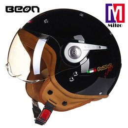 helmet air NZ - 2018 BEON B-110A high quality nano air stylish harley vintage helmet with detachable cheekpad for motorcycle and scooter