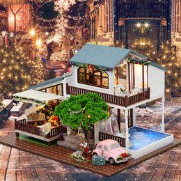 craft miniatures christmas australia furniture diy doll house wooden miniature doll houses furniture kit puzzle