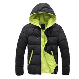$enCountryForm.capitalKeyWord UK - Winter Jacket Men Thickening Casual Coon For Teens Hooded Windprof Coon-Padded Warm Coats Outwear Double Color Plus Size