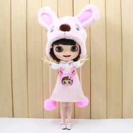 $enCountryForm.capitalKeyWord Australia - free shipping for blyth doll icy licca cute clothes pink dog set bear suit bag stocking hat lovely 1 6 30cm