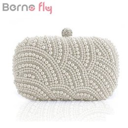 $enCountryForm.capitalKeyWord Canada - Berno fly Luxury Crystal Evening Clutch Bag Elegant Women Clutch Handbag Lady Wedding Purse Party Rhinestones Pearl Wallet