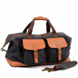 $enCountryForm.capitalKeyWord UK - YUPINXUAN Large Capacity Vintage Men Hand Luggages Wearproof Canvas Travel Duffle Bags Big Male Tote Large Weekend Bag Overnight