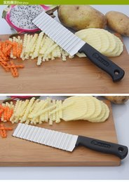 Discount wave cutter - Direct French stainless steel wave knife professional potato chopper ripple knife ripple knife spot