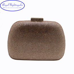 Crystal Box For Case Australia - RN Wholesale Womens Crystal Box Hard Case Evening Clutch Bag and Evening Bags for Party Prom Evening Black Purple Champagne Y18103003