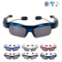 $enCountryForm.capitalKeyWord Australia - New Sunglasses Bluetooth Headset Wireless Sports Headphones Sunglass Stereo Handsfree Earphones mp3 Music Player With Mic Retail Package