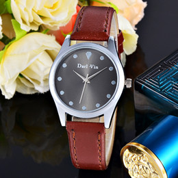 girl watch simple Australia - Wristwatch Quartz-watch Women's Watches Luxury Leather Band Simple Design Casual Wrist Quartz Watch Girls female time For Gifts