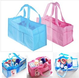 Tote Bags Compartments Canada - Mommy package Mommy bag nonwoven fabric with multi function 7 compartment separate bag Diaper Bags L1005