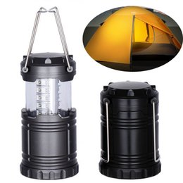 Wholesale LED Camping Lanterns Lamp Outdoor Emergency Lights Collapsible Lantern Flashlights Portable Black Collapsible For Hiking Camping Halloween