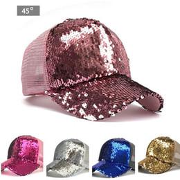 c581b5cce4d Fashion Mermaid Sequins baseball hats Summer mesh cap casual ball cap  snapback baseball caps hats for men women trendy Hip Hop hat 2018 New
