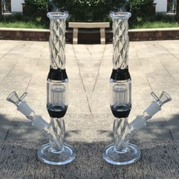 Two Bowl Bongs NZ - 33cm Thick Glass Bongs Water pipes Bowl Joint 18.8mm arm tree percolator Straight In Stock glass bongs thick Two Fuction hookahs