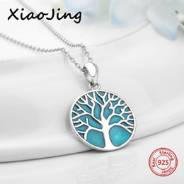 $enCountryForm.capitalKeyWord NZ - 2018 new design 925 sterling silver tee of life glowing pendant chain necklace European diy fashion jewelry making women gifts
