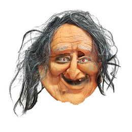 Rubber Costume Face Masks UK - Halloween Mask Party Face Masquerade Costume Creepy Masks Prop Ugly Old Woman Horror Cosplay Child's Play Latex Realistic Rubber