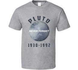 a970cdb89 Funny Geek Never Forget Planet Pluto T Shirt Mens 2018 fashion Brand T Shirt  O-Neck 100%cotton T-Shirt Tops Tee