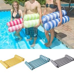 water floating beds 2018 - 6 Colors 70*132cm Summer Inflatable Chair Float Swimming Floating Bed Water Hammock Recreation Beach Mat Mattress Lounge