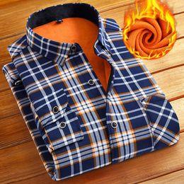 $enCountryForm.capitalKeyWord NZ - Fashion Men Winter Warm Flannel Plaid Dress Shirts Cotton Long Sleeve Men Work Shirts Brand Casual Slim Fit Camisa Social