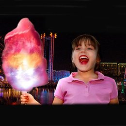 Glow candy online shopping - 28cm cm Christmas Party LED Stick LED flashing Cotton Candy Fairy Floss Stick Glow Stick For Cotton Candy