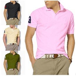$enCountryForm.capitalKeyWord NZ - High Quality Men embroidery Polo Shirt Mens short Sleeve Solid Polo Shirts Camisa Polos Masculina 2018 Casual cotton Plus size S-5XL Tops
