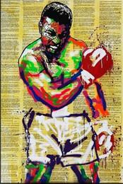 $enCountryForm.capitalKeyWord Australia - Alec Monopoly Handpainted & HD Print Abstract Graffiti Art Oil Painting Muhammad Ali On Canvas,Multi Sizes  Frame Options g251