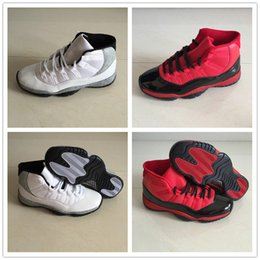 447952c1aefe8 White Foams Australia - 2018 New Jumpman XI 11 Wolf Grey White Red Black  Basketball Shoes