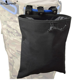 magazine dump pouch 2019 - SINAIRSOFT Molle Tactical Large Capacity Magazine DUMP Drop Pouch Utility Bag Paintball Folding Mag Recovery Pouch Molle