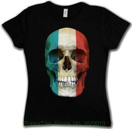 girls skull t shirt 2018 - Women's Tee Classic Luxembourg Skull Flag Woman Girlie Girl T-shirt - Biker Mc Banner Shirt 2018 Summer Women cheap