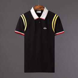 $enCountryForm.capitalKeyWord Canada - High-quality Brand new luxury design poloshirt men polo shirts t shirt snake bee embroidery mens polos