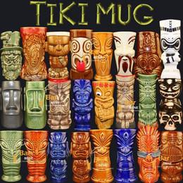 $enCountryForm.capitalKeyWord Australia - Tea coffee mugs ceramic tiki mug milk mug home bar decor Hawaiian cocktail glass porcelain figurine handicraft Martini gifts