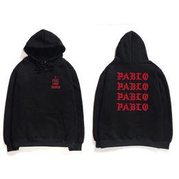 Homens Hoodies Hip Hop Eu Sinto Como Pablo Kanye West Streetwear Moletons Com Capuz Anti Carta Social Imprimir Hoodie Moletom Com Capuz clube em Promoção