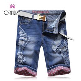 mens short jeans Australia - ORINERY 2017 New Summer Style Ripped Jeans Men Denim Shorts High Quality Casual Mens Shorts Brand Clothing Distressed Trousers