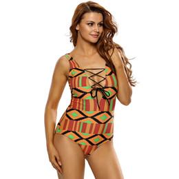 9f971cced8 Mujeres de una pieza de inmersión profunda traje de baño Sexy Print Strappy Beach  Swimwear traje de baño de contraste Set de estilo deportivo Bikini Set ...