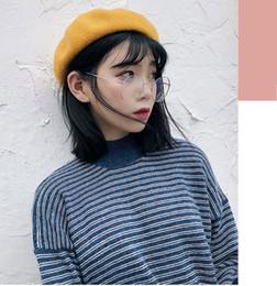 British hat styles online shopping - Patchwork Wool Female Beret High  Quality Women Elegant Berets Winter 90cae55ad06